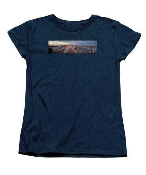 Women's T-Shirt (Standard Cut) featuring the digital art Gulf State Pier by Michael Thomas