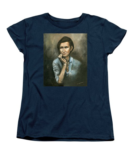 Women's T-Shirt (Standard Cut) featuring the painting Hannah -timeless Beauty by Mary Ellen Anderson