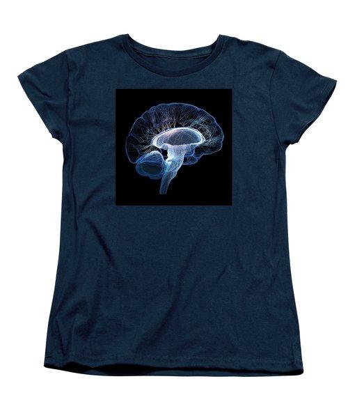 Human Brain Complexity Women's T-Shirt (Standard Cut) by Johan Swanepoel