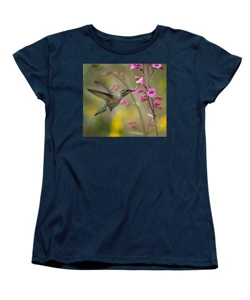 Hummingbird Heaven  Women's T-Shirt (Standard Cut) by Saija  Lehtonen