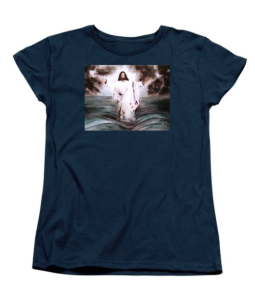 Women's T-Shirt (Standard Cut) featuring the painting I Am by Hazel Holland