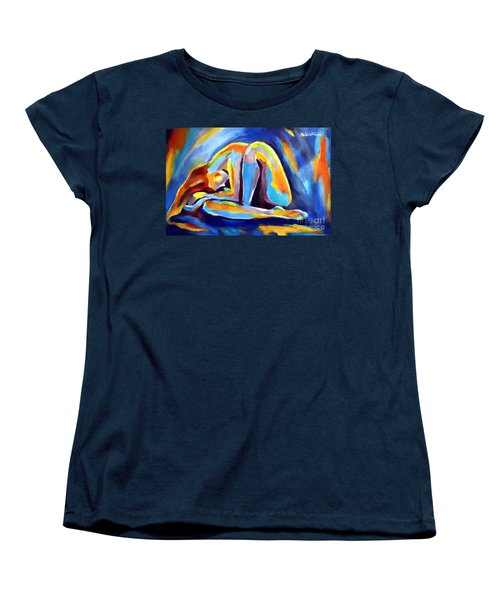 Women's T-Shirt (Standard Cut) featuring the painting Insomnia by Helena Wierzbicki