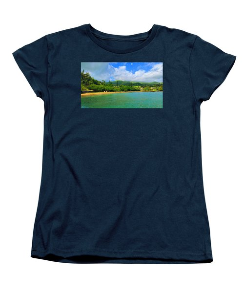 Women's T-Shirt (Standard Cut) featuring the painting Island Of Maui by Michael Rucker