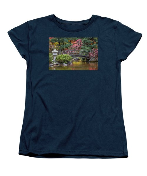 Women's T-Shirt (Standard Cut) featuring the photograph Japanese Bridge by Sebastian Musial