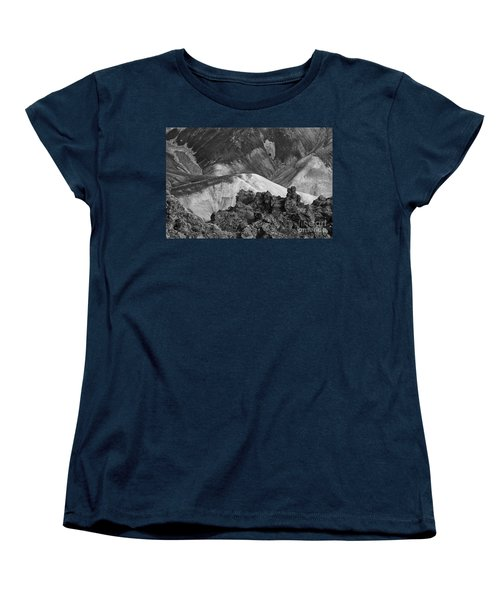 Women's T-Shirt (Standard Cut) featuring the photograph Landmannalaugar Iceland 4 by Rudi Prott