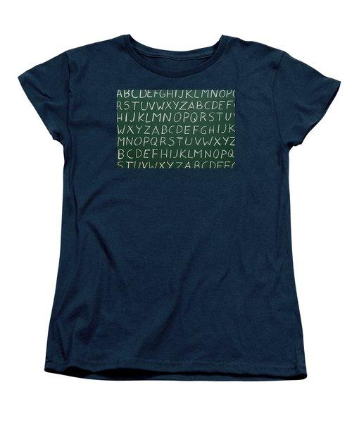 Letters On A Chalkboard Women's T-Shirt (Standard Cut)