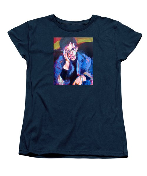 Lou Reed Women's T-Shirt (Standard Cut) by Les Leffingwell