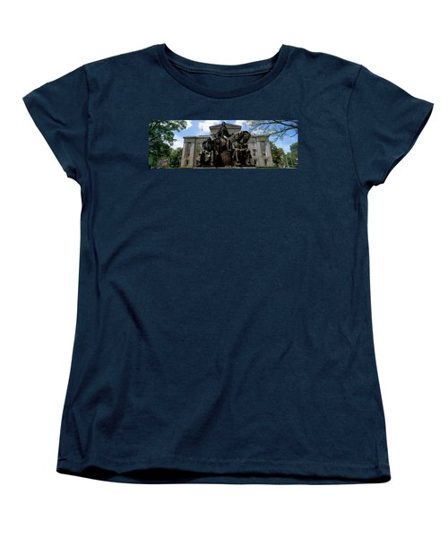 Low Angle View Of Statue Women's T-Shirt (Standard Cut) by Panoramic Images