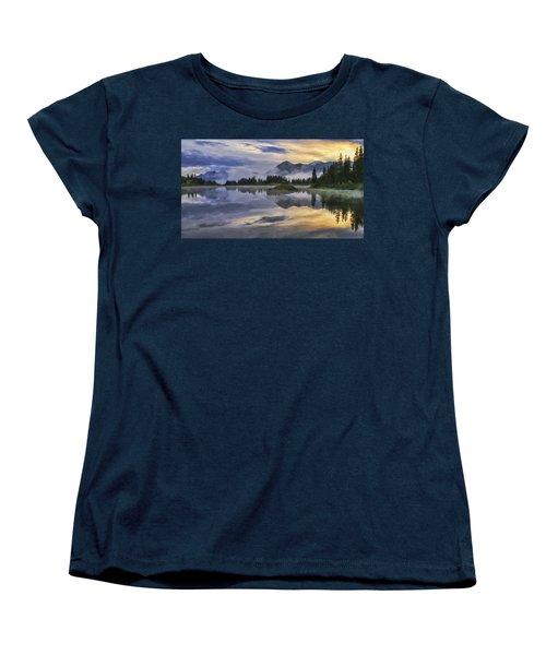 Molas Lake Sunrise Women's T-Shirt (Standard Cut) by Priscilla Burgers