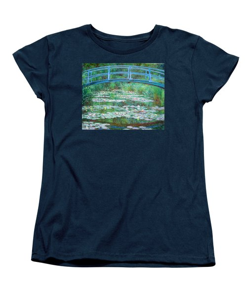 Women's T-Shirt (Standard Cut) featuring the photograph Monet's The Japanese Footbridge by Cora Wandel