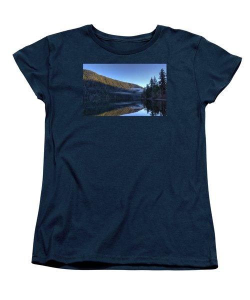 Morning Mist Women's T-Shirt (Standard Cut) by Randy Hall