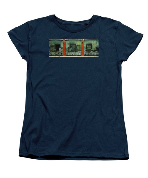 Mural On A Wall, Cancun, Yucatan, Mexico Women's T-Shirt (Standard Cut) by Panoramic Images