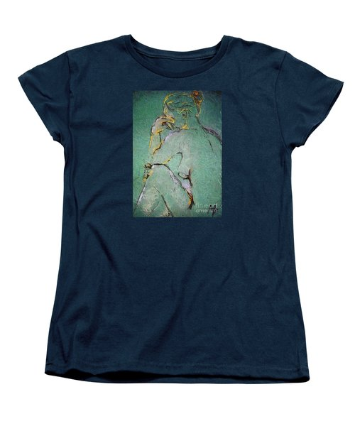 Women's T-Shirt (Standard Cut) featuring the drawing Nude IIi  by Dragica  Micki Fortuna