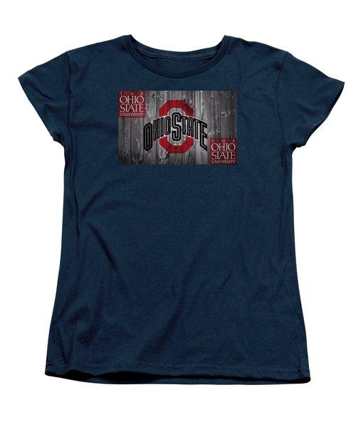 Ohio State Buckeyes Women's T-Shirt (Standard Cut) by Dan Sproul