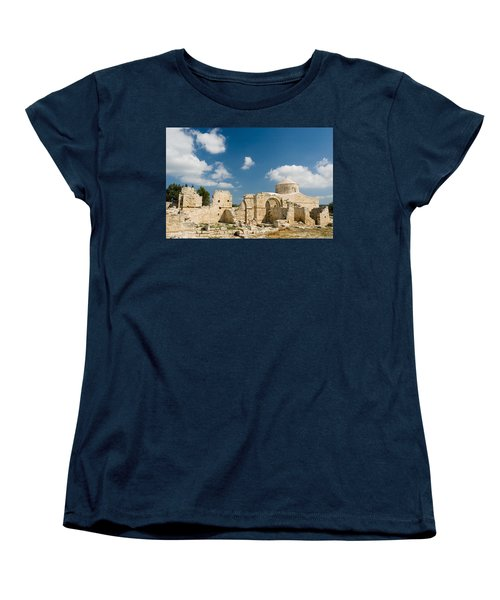 Old Church Anogyra  Women's T-Shirt (Standard Cut) by Jeremy Voisey