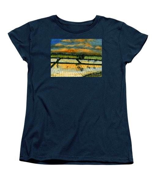 Women's T-Shirt (Standard Cut) featuring the painting On The Way To Ubud Iv Bali Indonesia by Melly Terpening