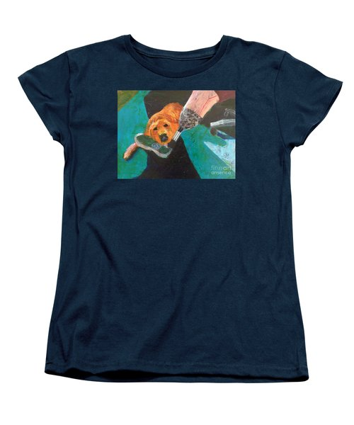 Women's T-Shirt (Standard Cut) featuring the painting One Team Two Heroes - 1 by Donald J Ryker III
