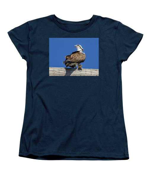 Women's T-Shirt (Standard Cut) featuring the photograph Osprey With Fish In Talons by Dale Powell