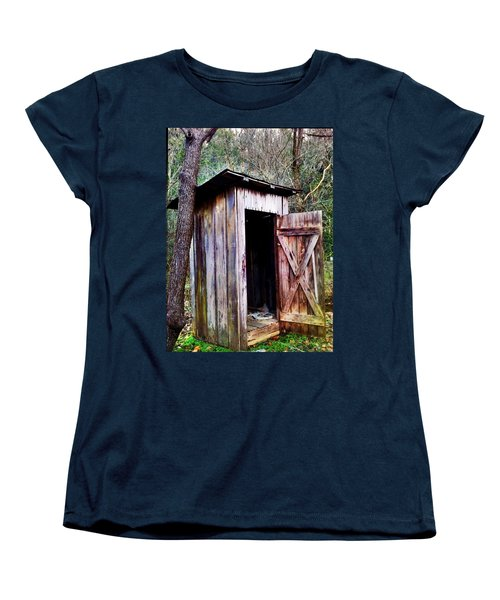 Outhouse Women's T-Shirt (Standard Cut) by Janice Spivey