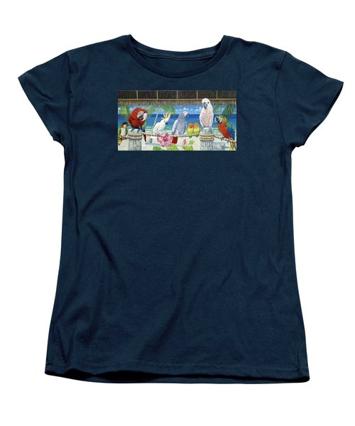Parrots In Paradise Women's T-Shirt (Standard Cut) by Danielle  Perry
