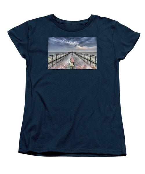 Penarth Pier 4 Women's T-Shirt (Standard Cut) by Steve Purnell
