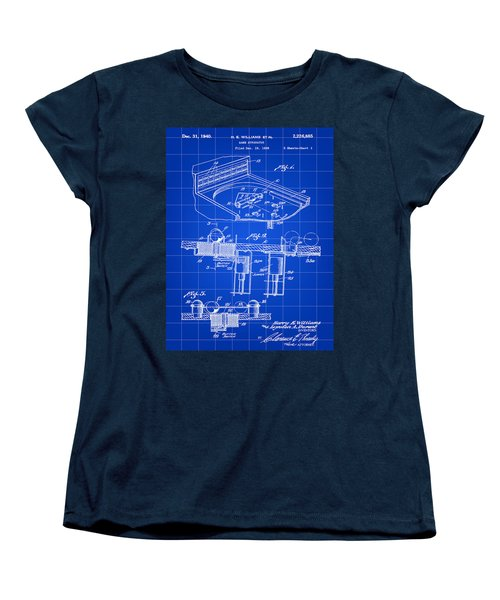 Pinball Machine Patent 1939 - Blue Women's T-Shirt (Standard Cut) by Stephen Younts