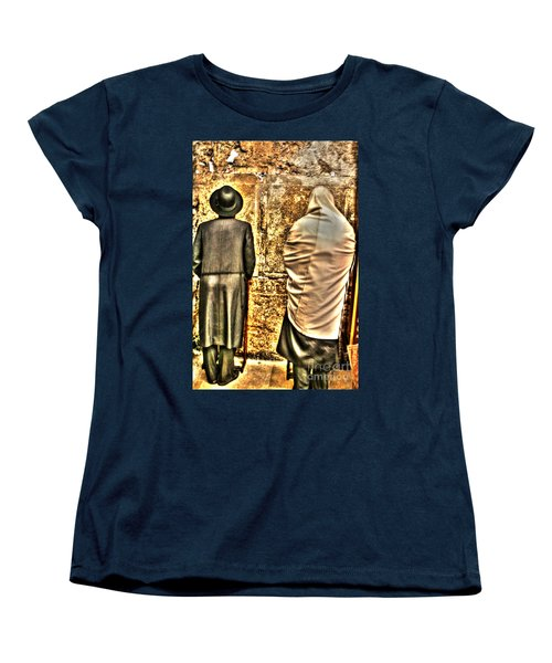 Women's T-Shirt (Standard Cut) featuring the photograph Praying At The Western Wall by Doc Braham