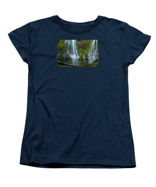 Proxy Falls Women's T-Shirt (Standard Cut) by Nick  Boren