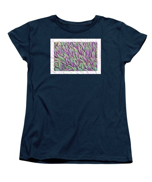 Purple And Green Women's T-Shirt (Standard Cut) by Holly Kempe