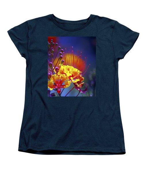 Red Yellow Blossoms 10197 Women's T-Shirt (Standard Cut) by Jerry Sodorff