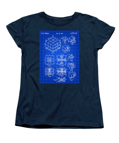 Rubik's Cube Patent 1983 - Blue Women's T-Shirt (Standard Cut) by Stephen Younts