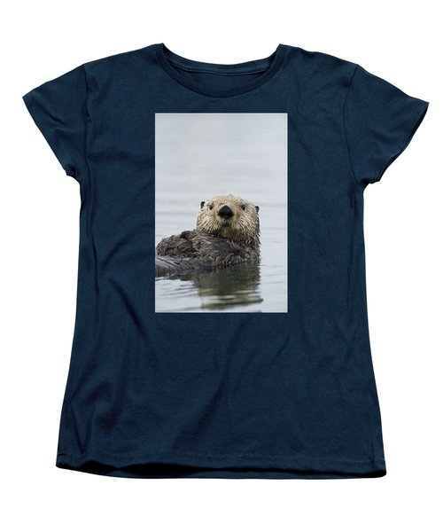 Sea Otter Alaska Women's T-Shirt (Standard Cut) by Michael Quinton