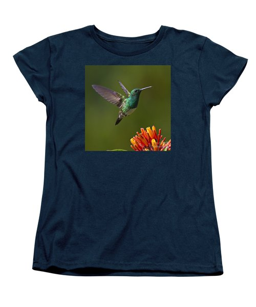 Snowy-bellied Hummingbird Women's T-Shirt (Standard Cut) by Heiko Koehrer-Wagner