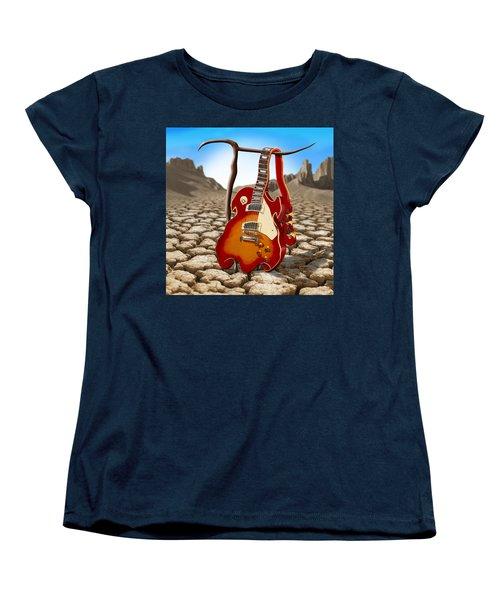 Soft Guitar II Women's T-Shirt (Standard Cut) by Mike McGlothlen