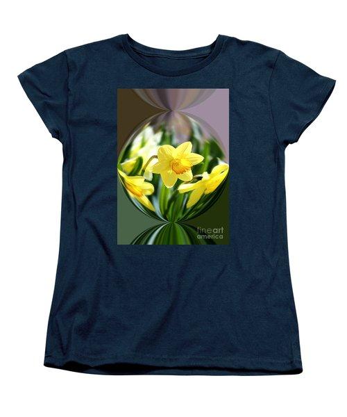 Spring Daffodils   Women's T-Shirt (Standard Cut) by Tina  LeCour