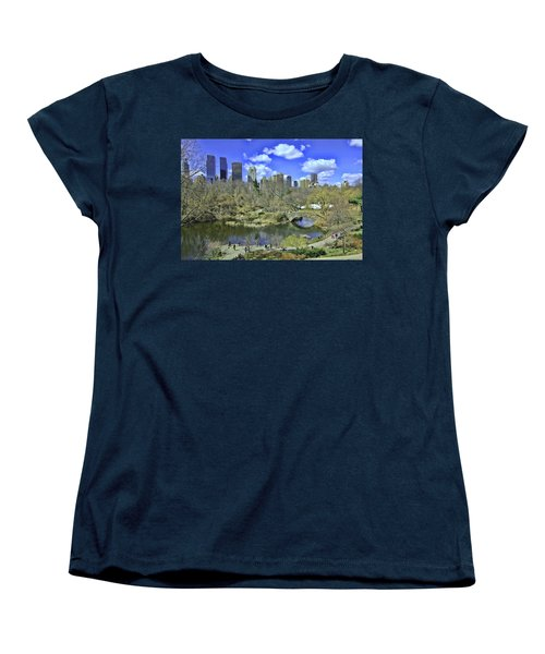 Springtime In Central Park Women's T-Shirt (Standard Cut) by Allen Beatty