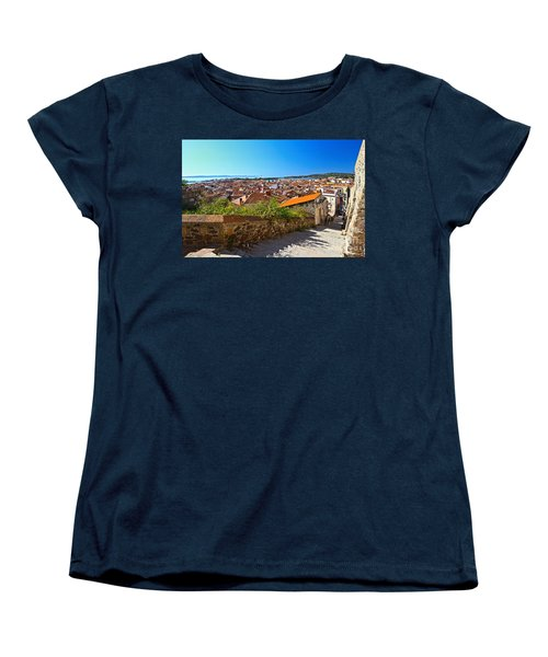 stairway and ancient walls in Carloforte Women's T-Shirt (Standard Cut) by Antonio Scarpi