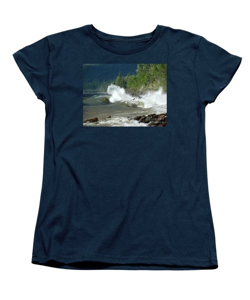 Stormy Lake Women's T-Shirt (Standard Cut) by Leone Lund