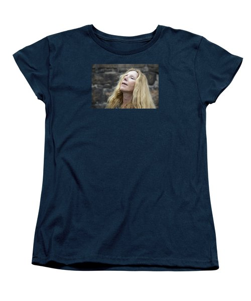 Women's T-Shirt (Standard Cut) featuring the photograph Street People - A Touch Of Humanity 2 by Teo SITCHET-KANDA