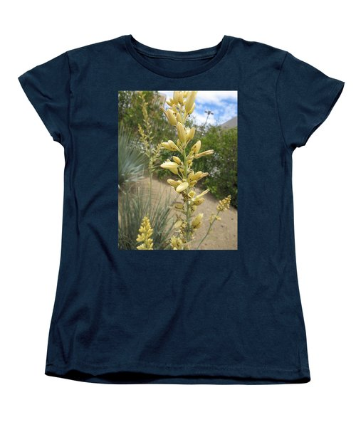 Women's T-Shirt (Standard Cut) featuring the photograph 1 String Flowers    Photographed Las Vegas May 2014 by Navin Joshi