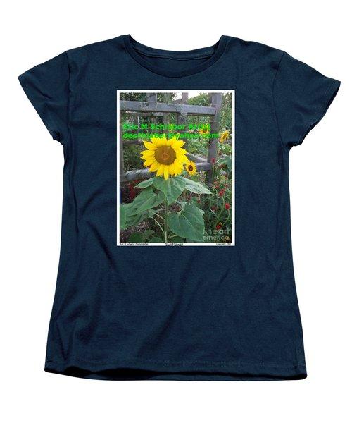 Sunflower Women's T-Shirt (Standard Cut) by Eric  Schiabor