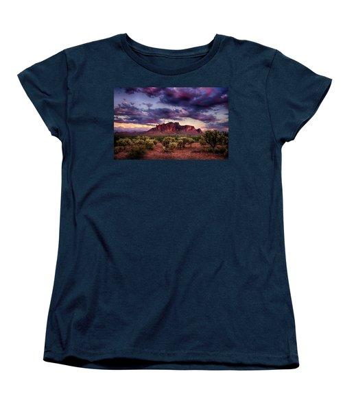 Sunset At The Superstitions  Women's T-Shirt (Standard Cut) by Saija  Lehtonen