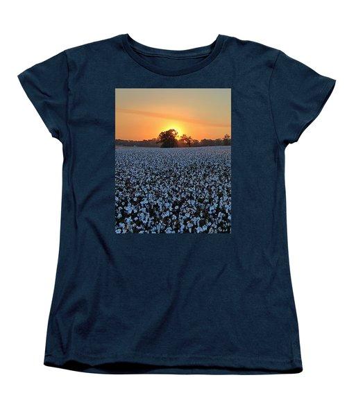 Sunset Over Cotton Women's T-Shirt (Standard Cut)