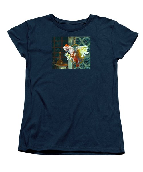 Tango The Moluccan Cockatoo  Women's T-Shirt (Standard Cut) by Enzie Shahmiri