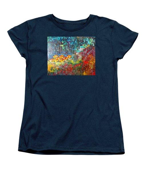 Beach House Women's T-Shirt (Standard Cut) by George Riney
