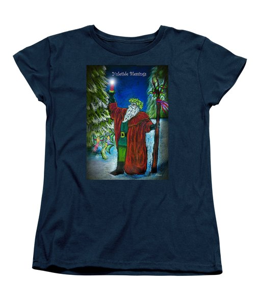 The Holly King Women's T-Shirt (Standard Cut) by Diana Haronis