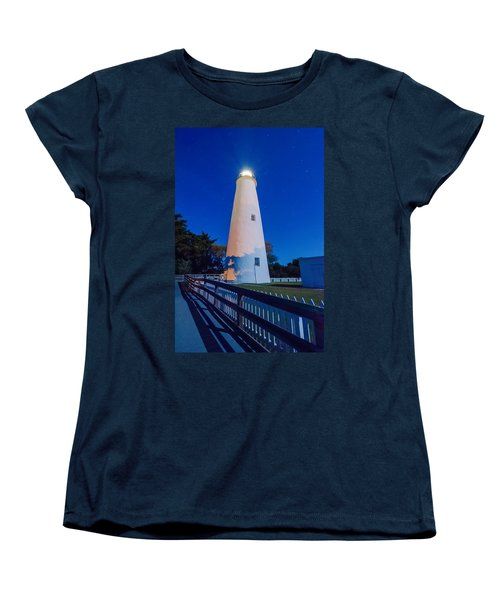 The Ocracoke Lighthouse On Ocracoke Island On The North Carolina Women's T-Shirt (Standard Cut) by Alex Grichenko
