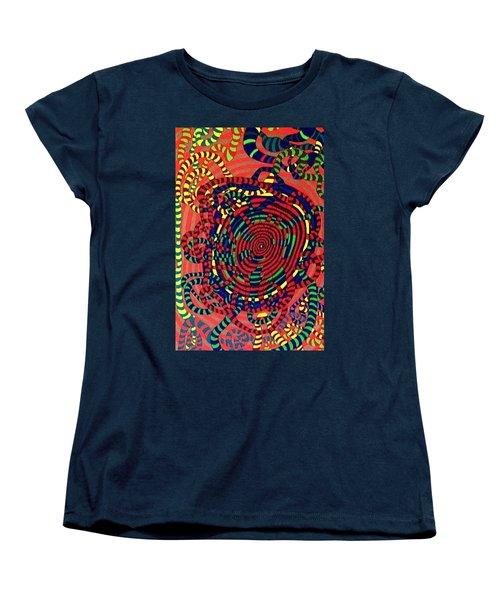 Women's T-Shirt (Standard Cut) featuring the painting Polar Shift. by Jonathon Hansen
