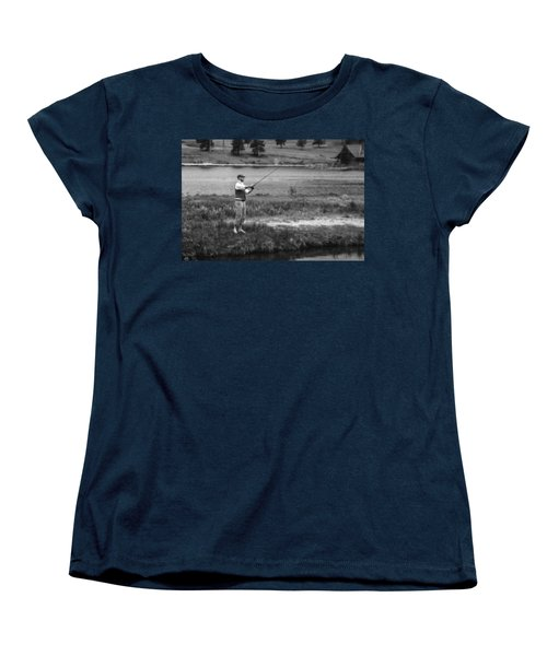 Women's T-Shirt (Standard Cut) featuring the photograph Vintage Fly Fishing by Ron White
