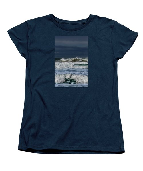 Wave After Wave Women's T-Shirt (Standard Cut) by Edgar Laureano